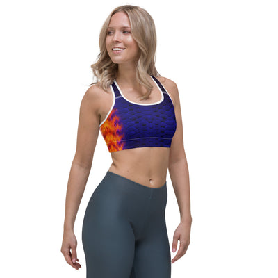 Coral Beauty Sports Bra