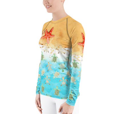 Baby Turtles - Women's Rash Guard