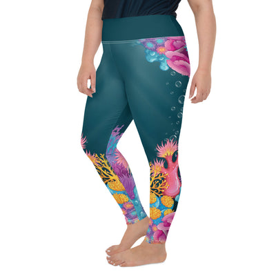 Coral Plus-Size Leggings