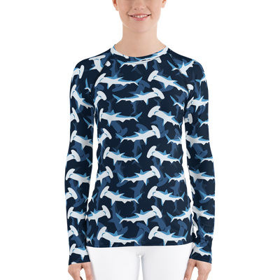 Blue Hammerhead Sharks - Women's Rash Guard