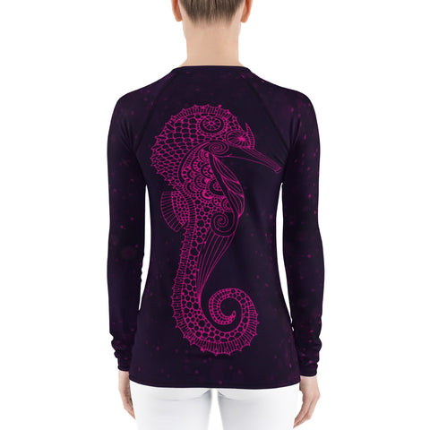 Image of Seahorse - Women's Rash Guard