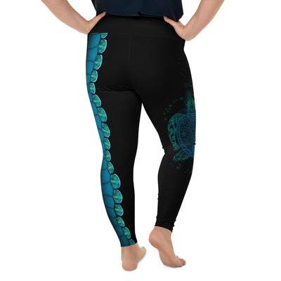 Let The Sea Set You Free Plus-Size Leggings
