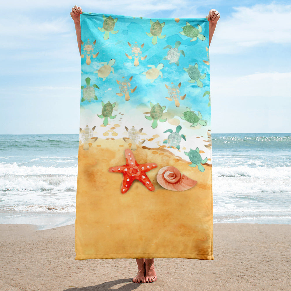 Baby Turtles Beach Towel