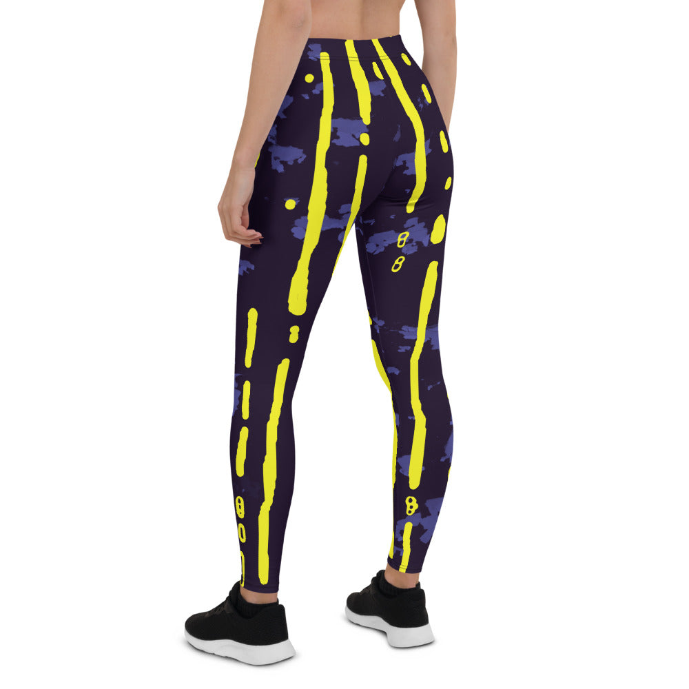 Purple Aeolis Nudi Leggings