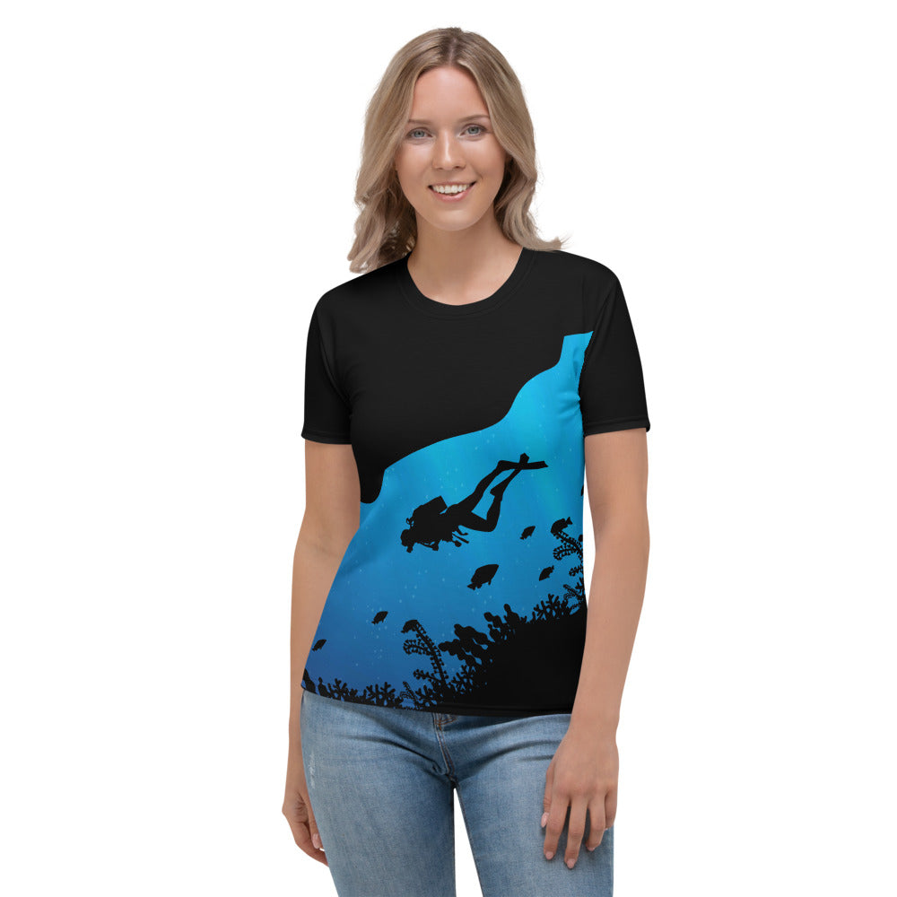 Underwater Explorer Womens Crewneck Shirt