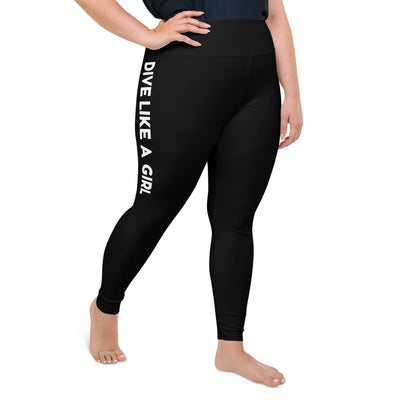 Dive Like A Girl Plus-Size Leggings