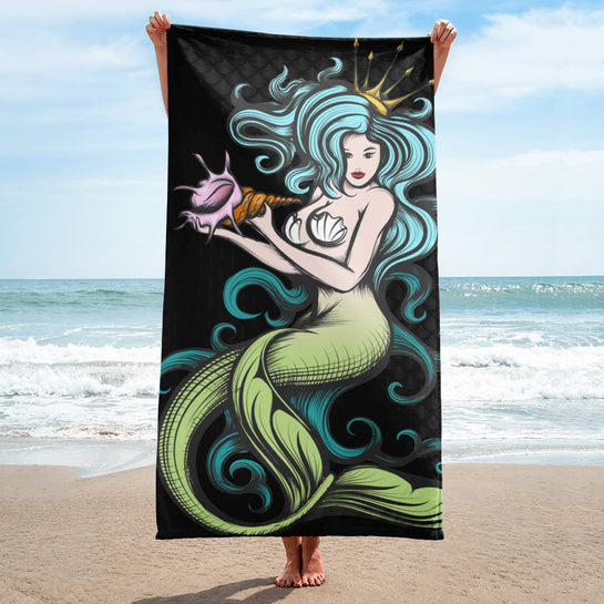 Real Life Mermaid Beach Towel