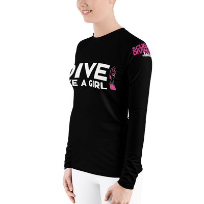 Dive Like A Girl - Women's Rash Guard