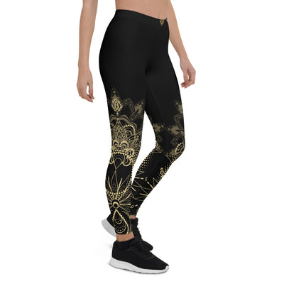 Gold Mandala Leggings