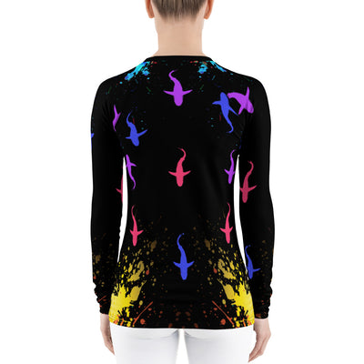 Colorful Sharks - Women's Rash Guard