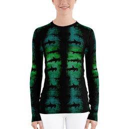 Green Hammerhead Sharks - Women's Rash Guard