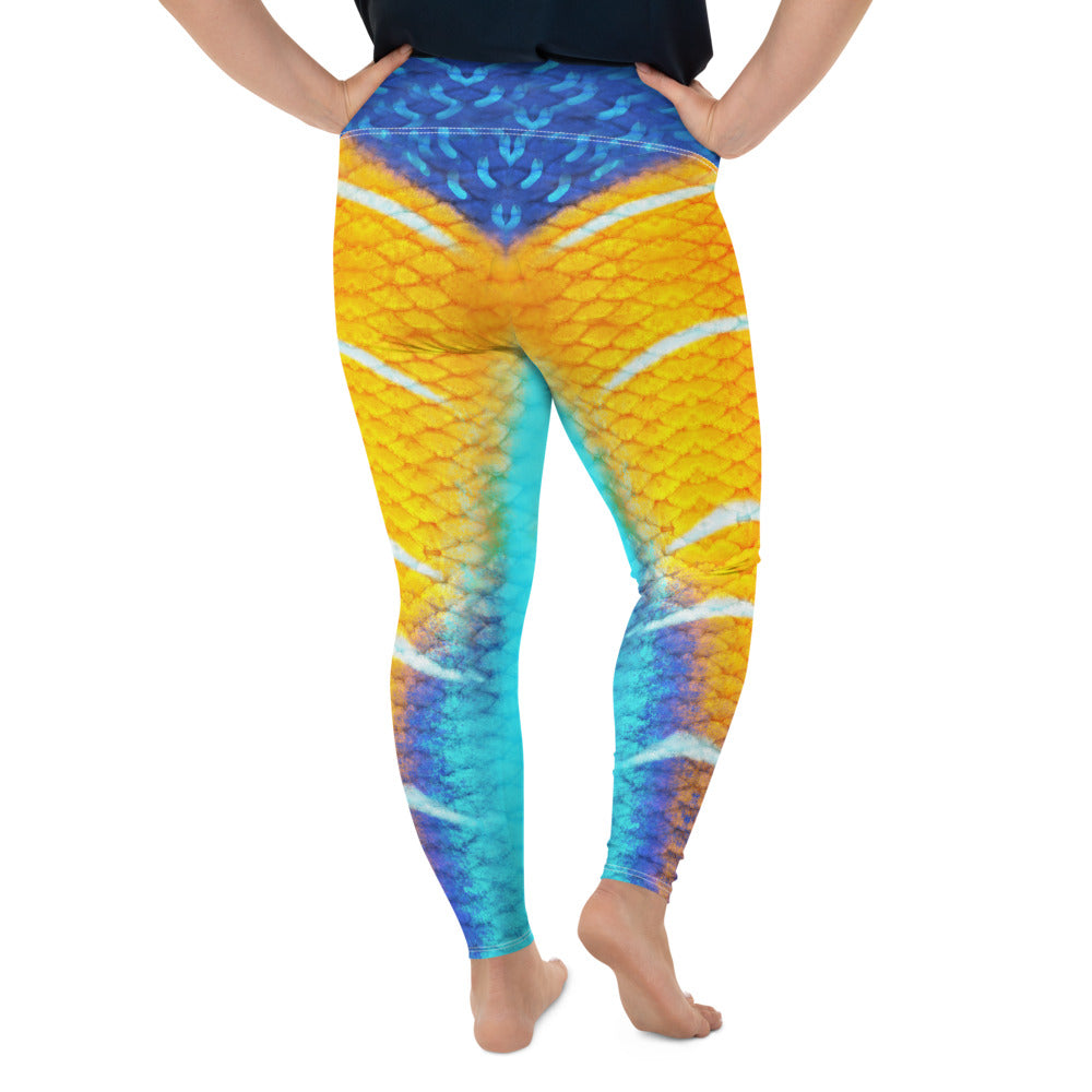 Queen Angelfish Plus-Size Leggings