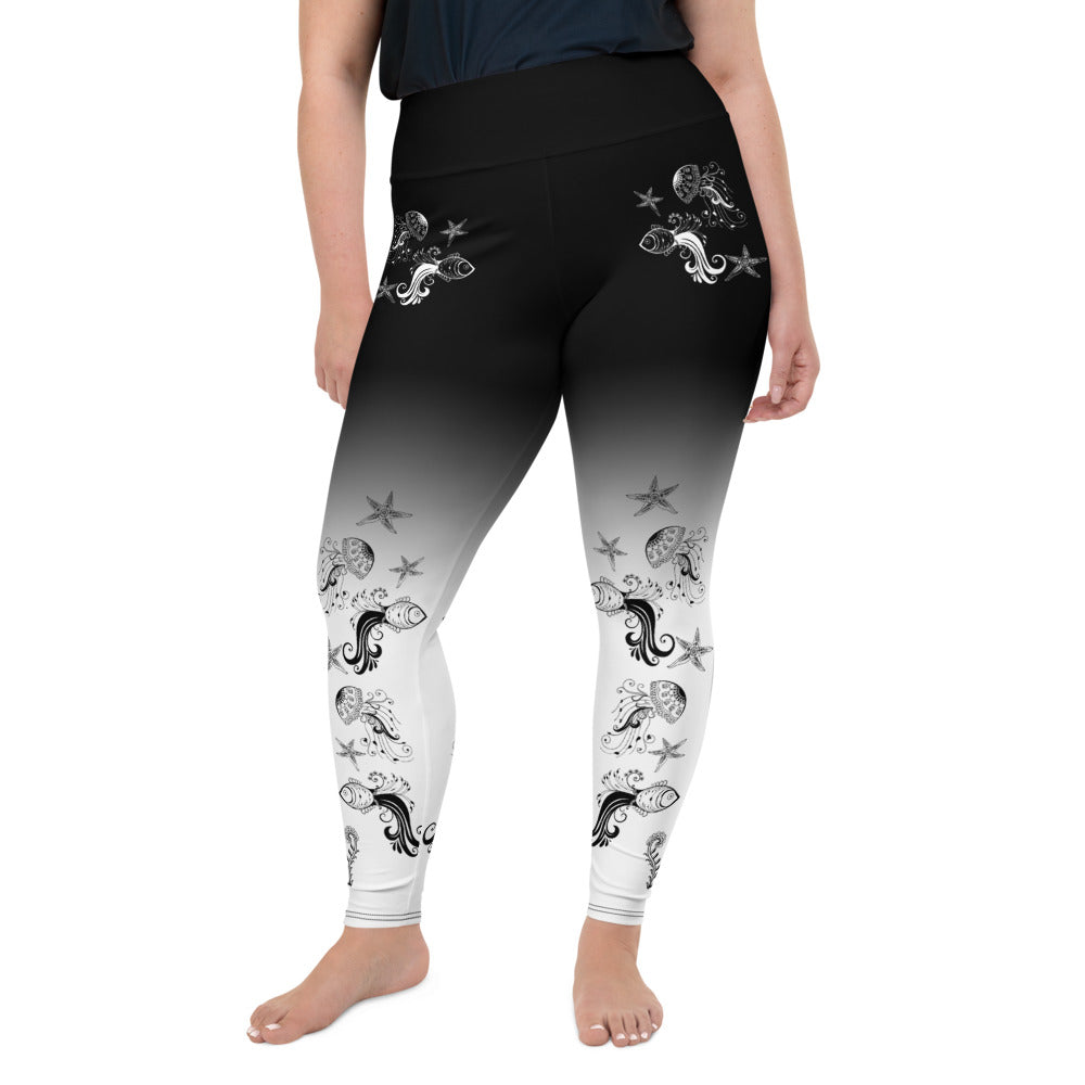 Underwater Chill Plus-Size Leggings