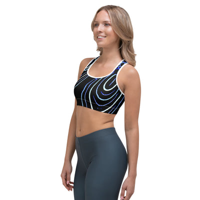 Juvenile Emperor Angelfish Sports Bra