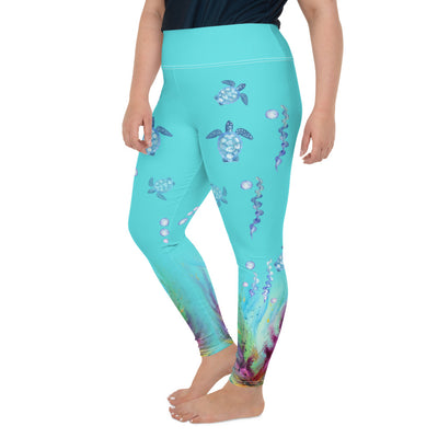 Turtle Dream Plus-Size Leggings