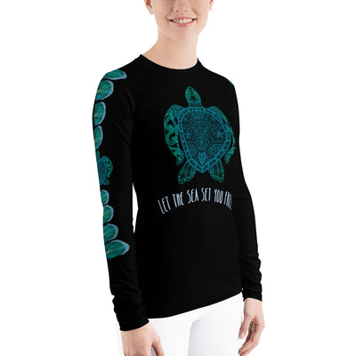 Let The Sea Set You Free - Women's Rash Guard