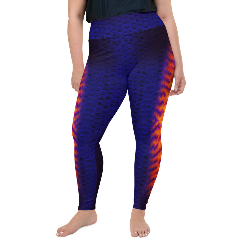 Coral Beauty Angelfish Plus-Size Leggings