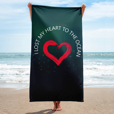 I Lost My Heart To The Ocean Beach Towel