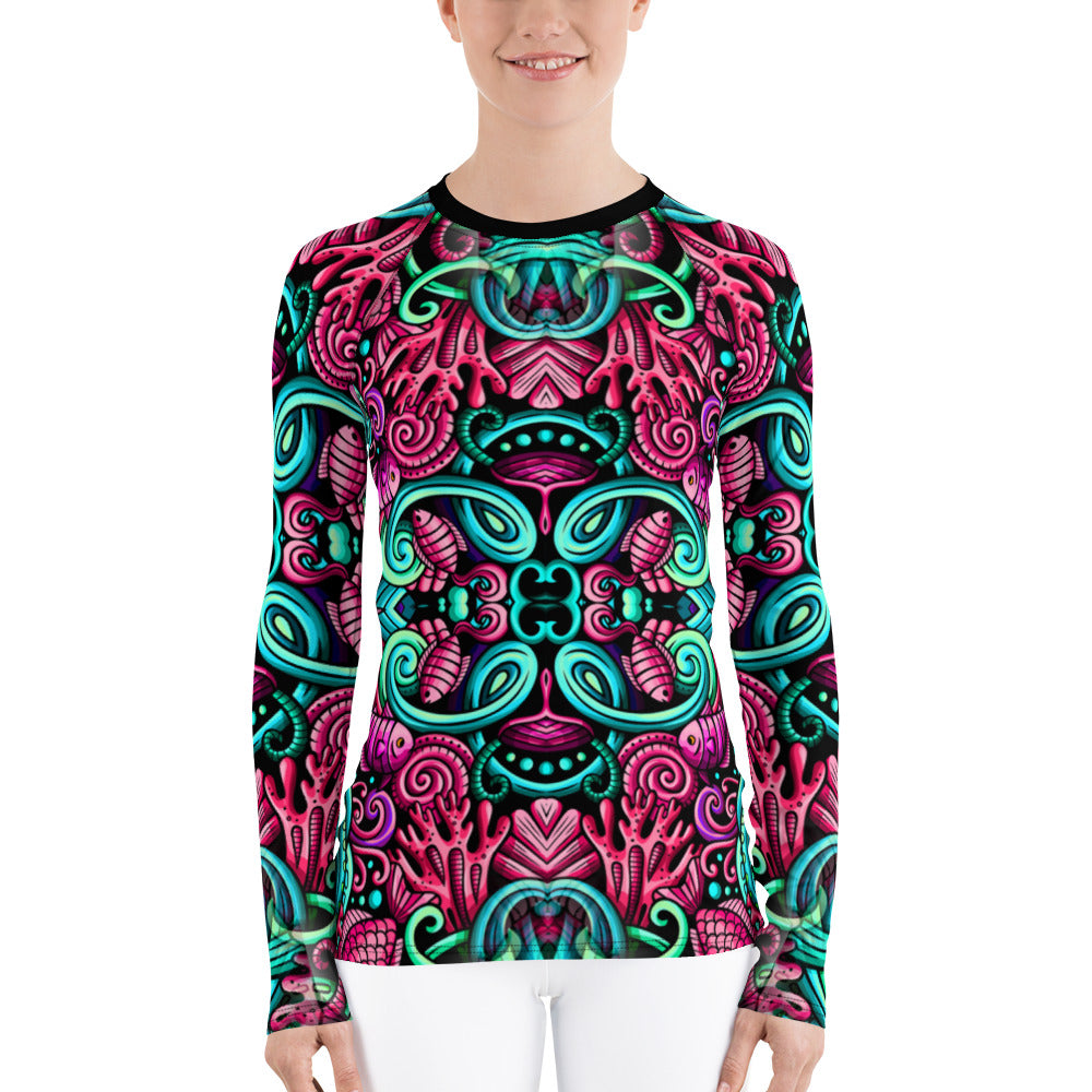 Sea Life - Women's Rash Guard