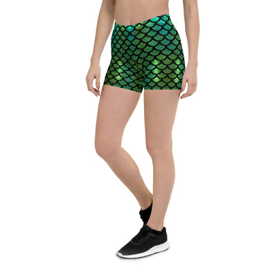 Mermaid Greentail Shorts