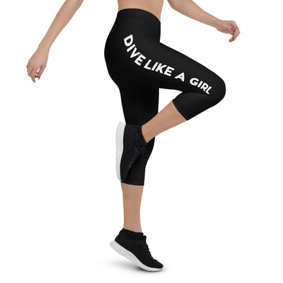 Dive Like A Girl Capris