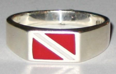 Image of Dive Flag Ring - scubadivingaddicts