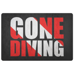 Gone Diving Doormat