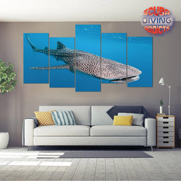 Whale Shark in Maldives 2 - 4 Piece Canvas