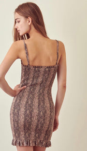 BROOKLYN SNAKESKIN DRESS
