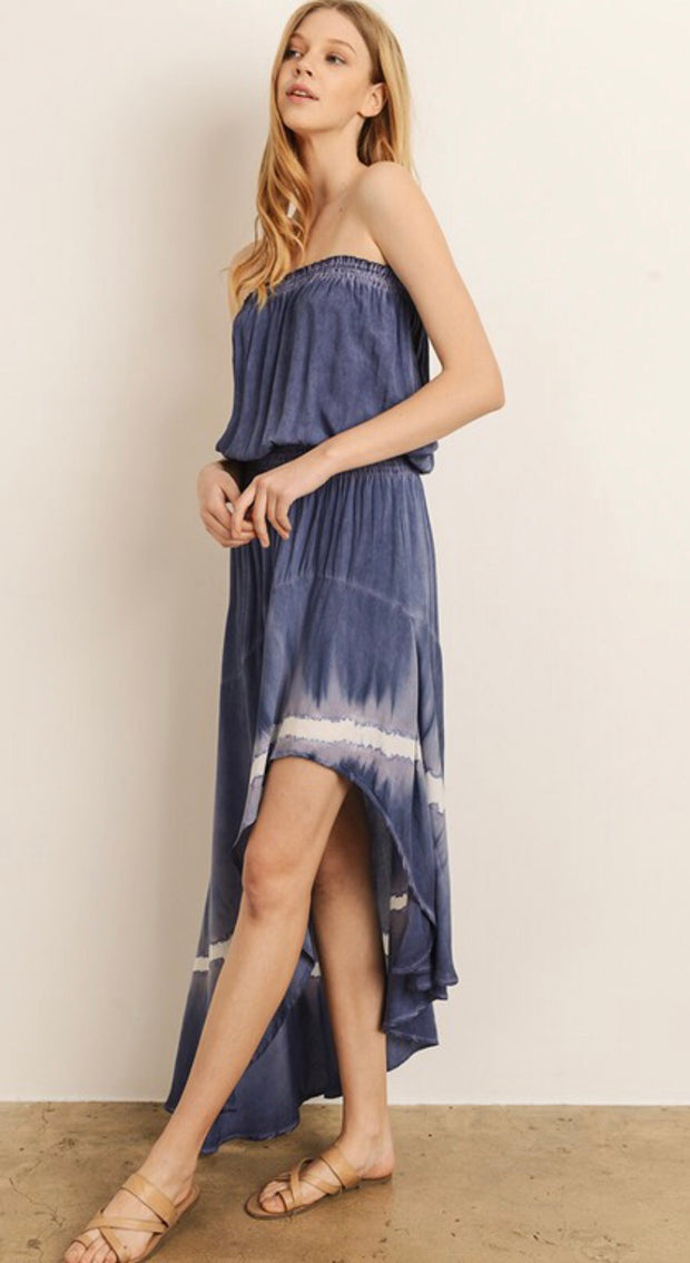 KEELY TIE-DYE MIDI DRESS