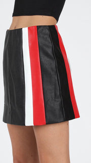 SPORTY FAUX LEATHER SKIRT