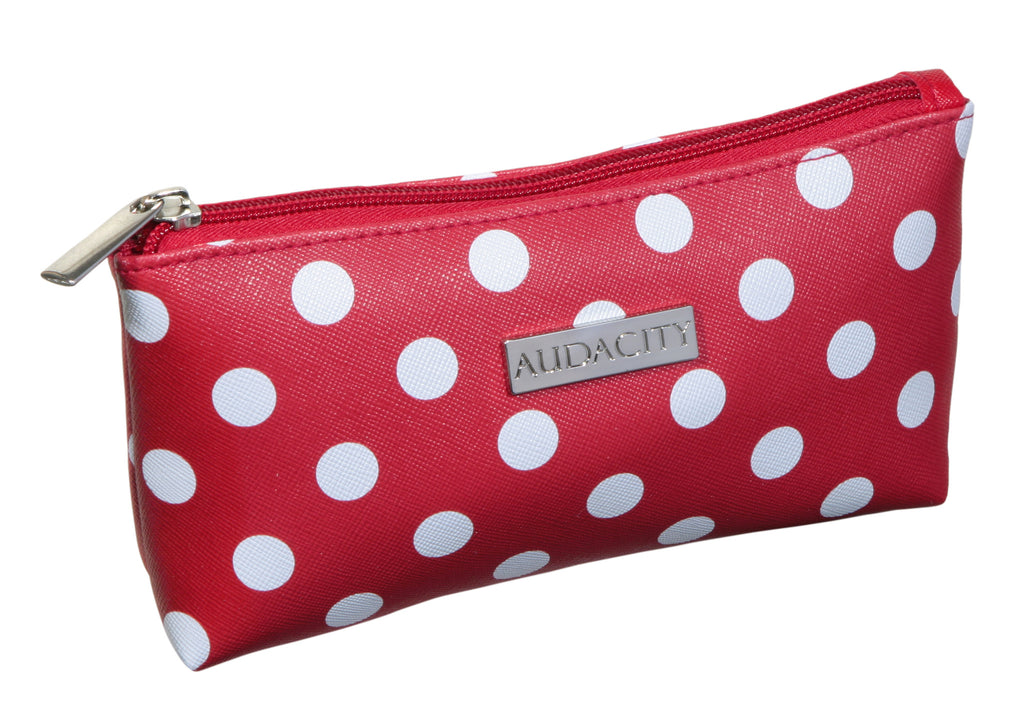 Red Polka Dot Cosmetic Purse