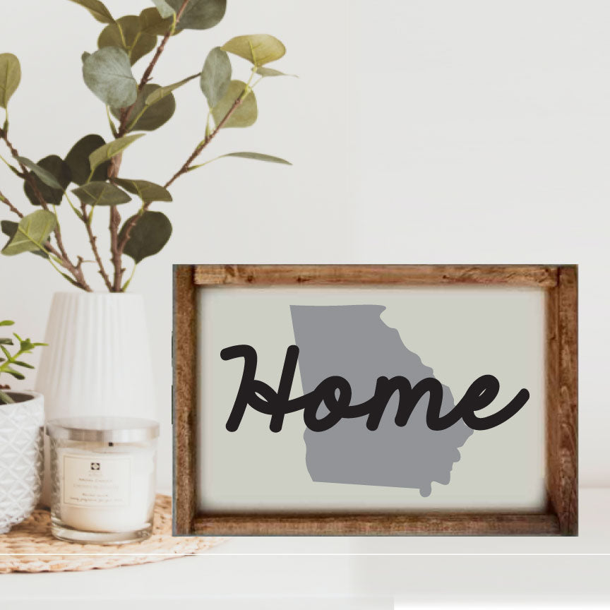 "10x14 ""Any State"" Home with State Framed"