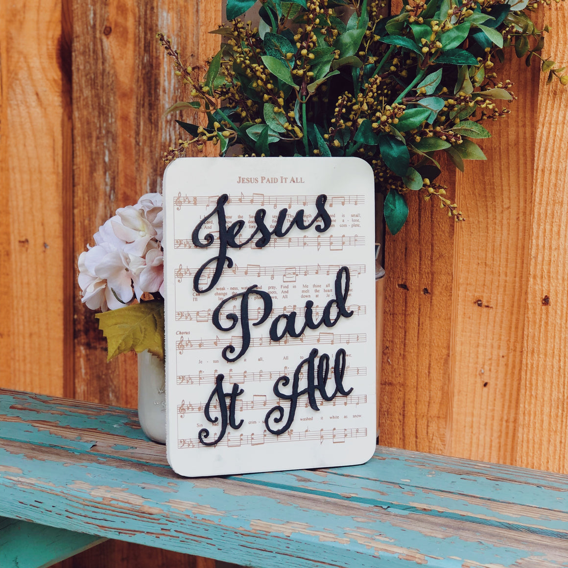 Jesus Paid it all - Unframed