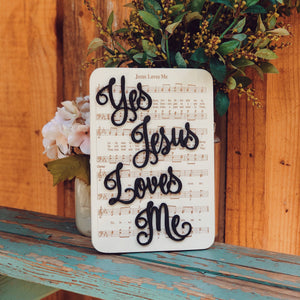 Jesus Loves Me - Unframed