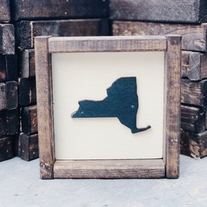 "7x7 ""Any State"" Framed Sign"