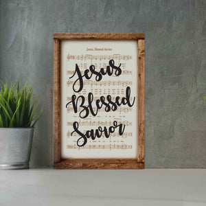 Jesus Blessed Savior - Framed