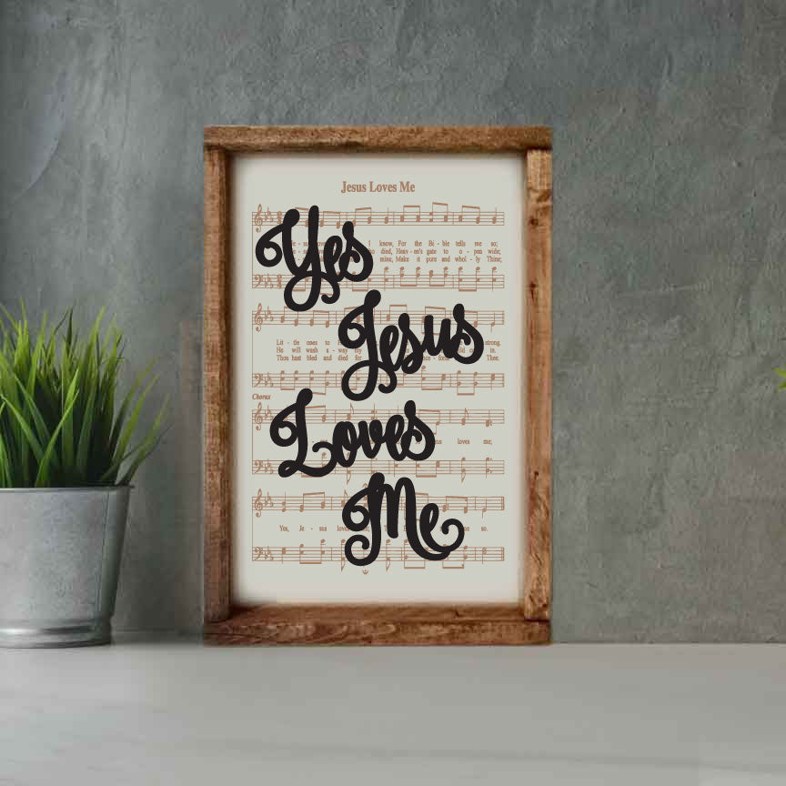 Jesus Loves Me - Framed