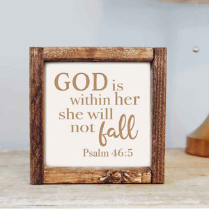 God is within her Psalm 46