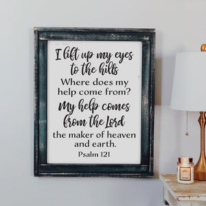 I lift up my eyes Psalm 121
