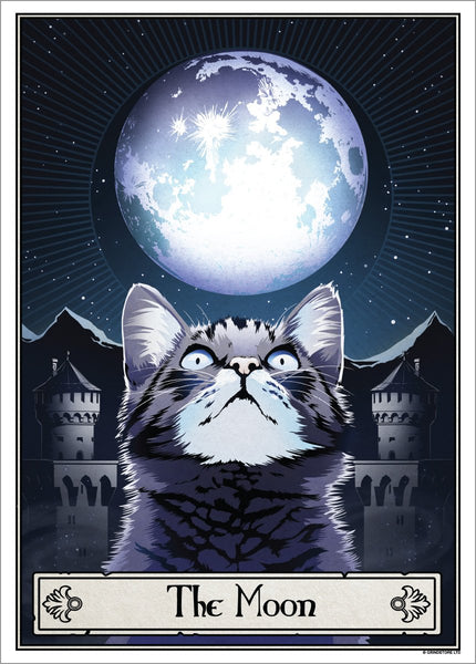 Deadly Tarot Felis 'The Moon' Mini Art Poster