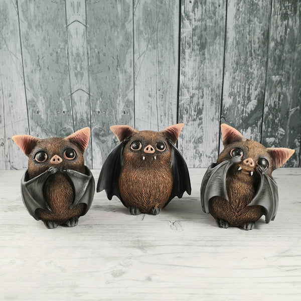 Three Wise Bats 8.5cm