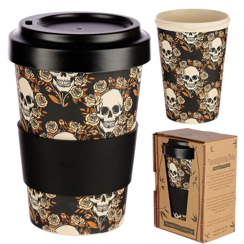Skulls & Roses Eco Friendly Travel Mug