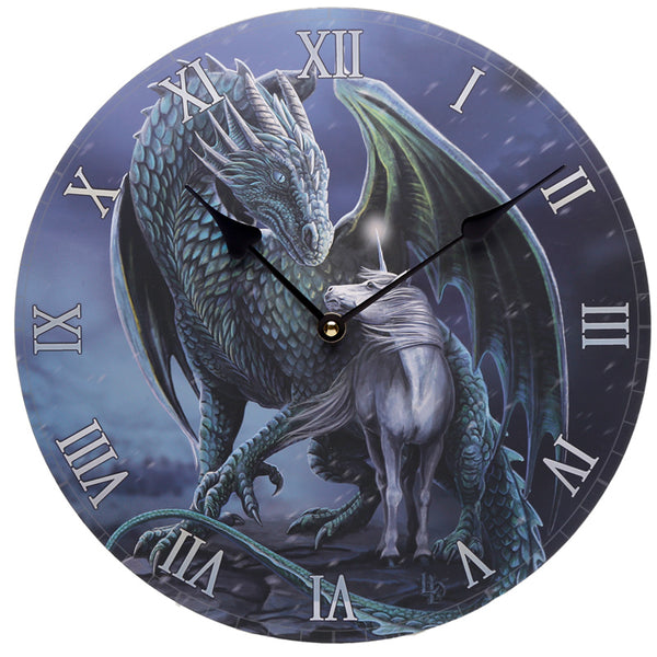 Protector of Magick Dragon & Unicorn Wall Clock