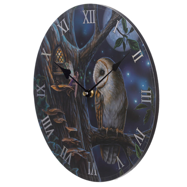 Lisa Parker Fairy Tales Owl and Fairy Wall Clock