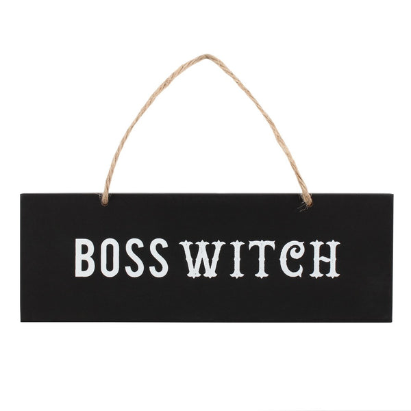 Boss Witch - Wooden Hanging Sign