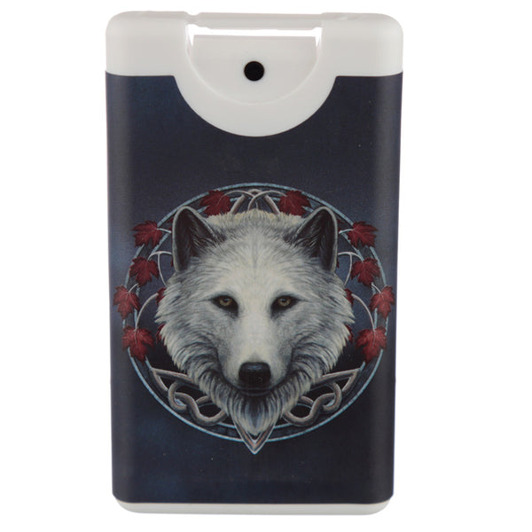 'Guardian of the Fall' White Wolf Refillable Spray Hand Sanitiser