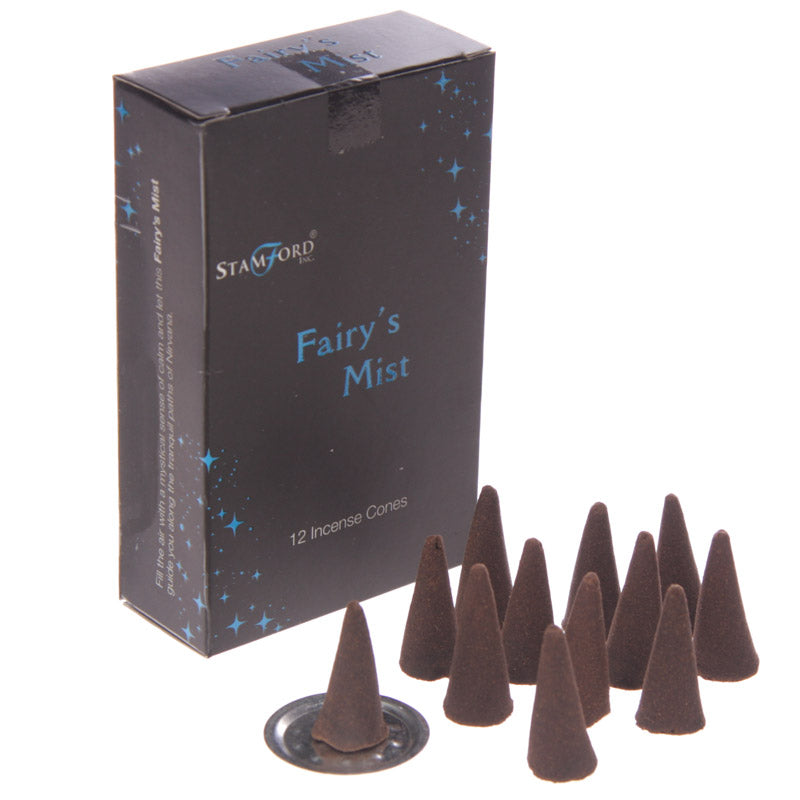 Stamford Black Incense Cones - Fairy's Mist (White Rose)