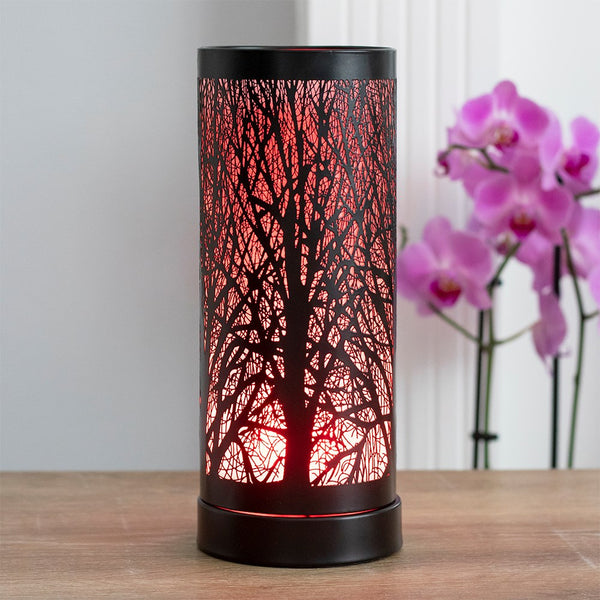 Black Tree LED Colour Change Oil/Wax Burner 26cm