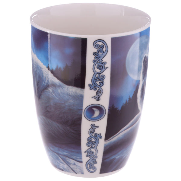 'Guardian of the North' White Wolf Mug